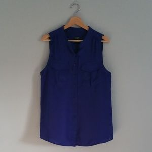 J Crew Factory Sleeveless Button-Up Blouse Size 12